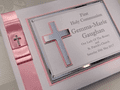 First Communion Guest Book  - Pink